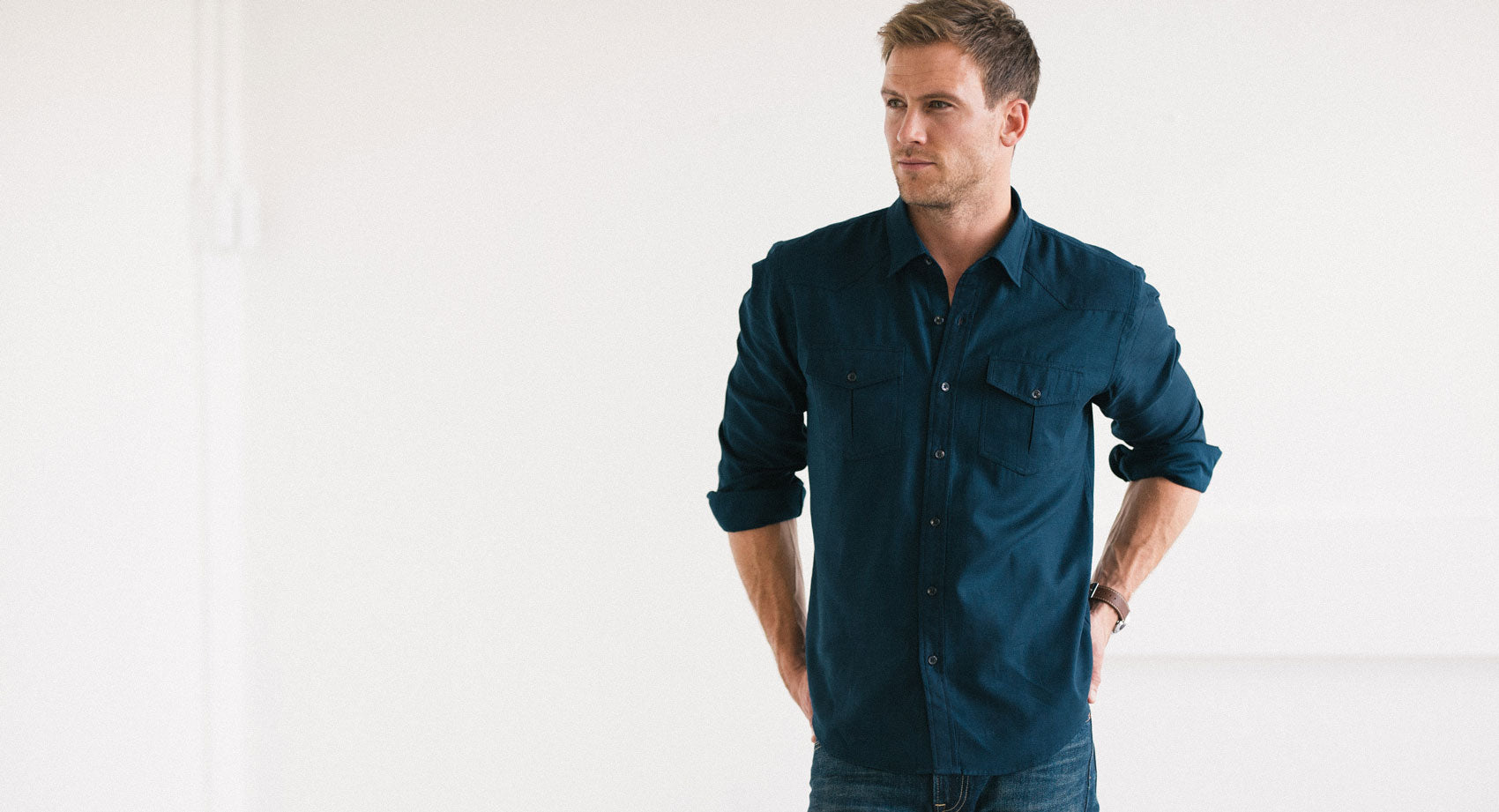 Dark Navy Utility Shirt