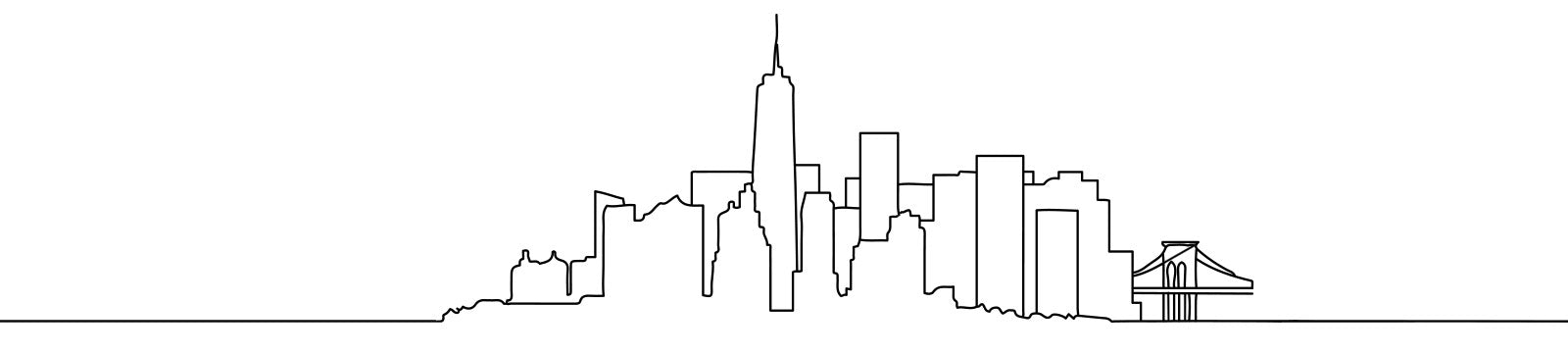NYC Drawn Skyline