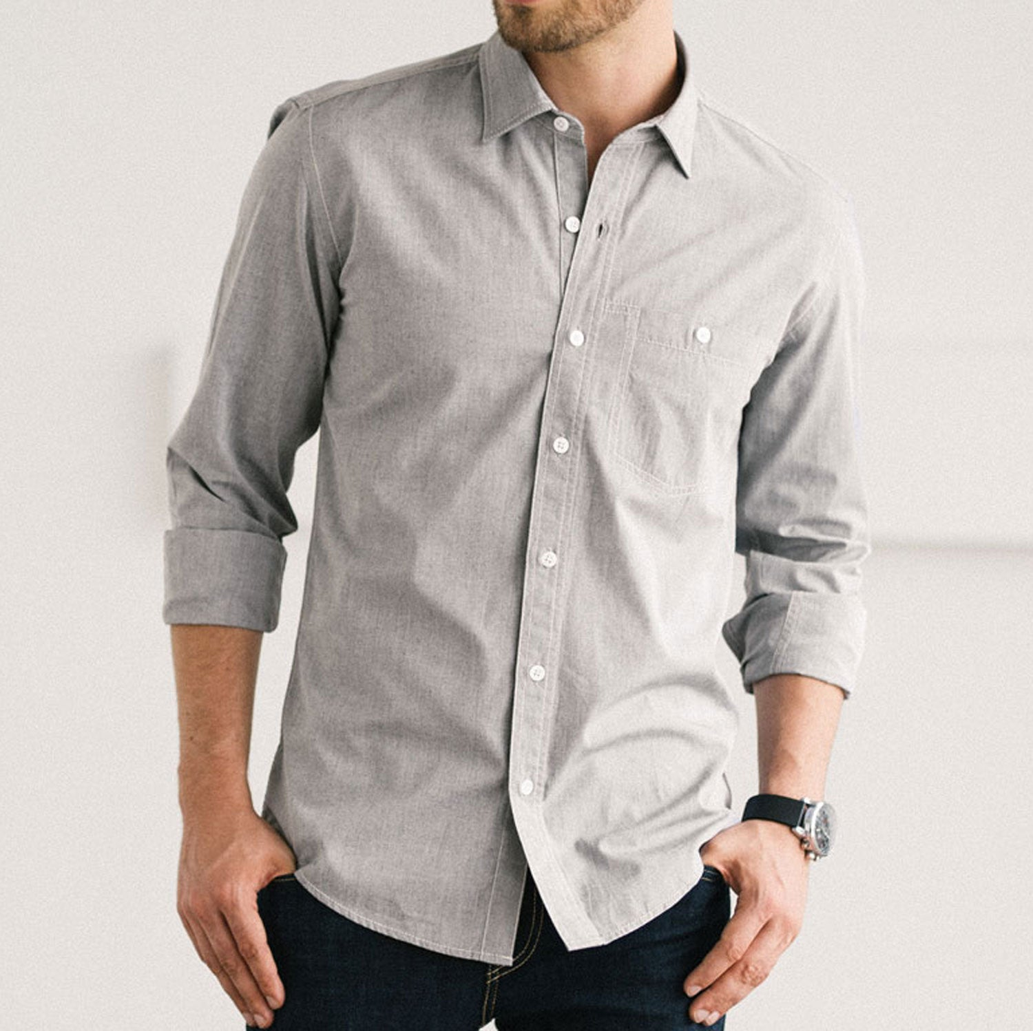 Spread Collar Shirt Image