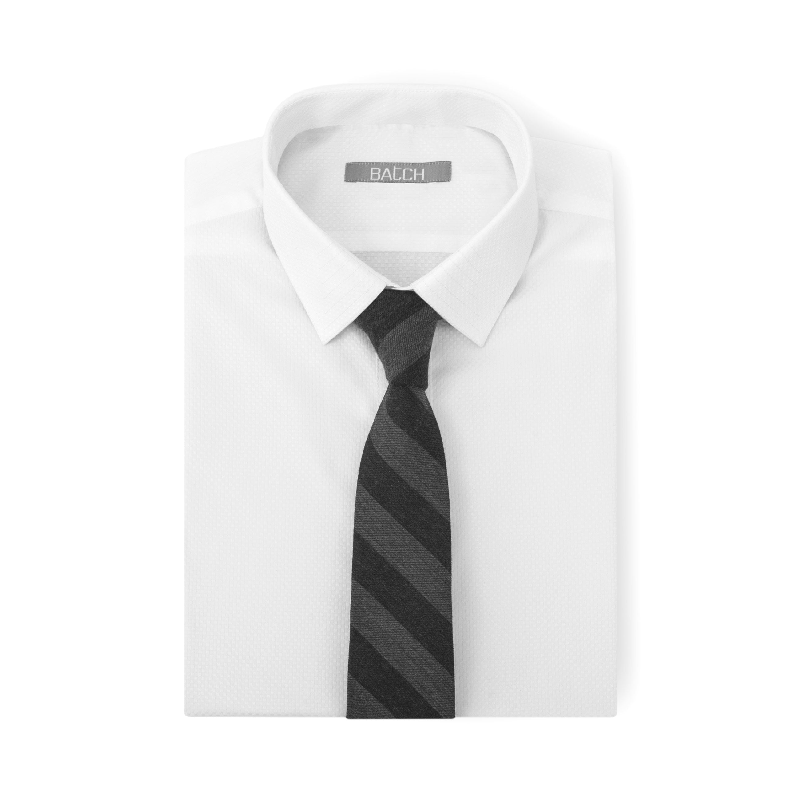 Arctic White Shirt with Tie