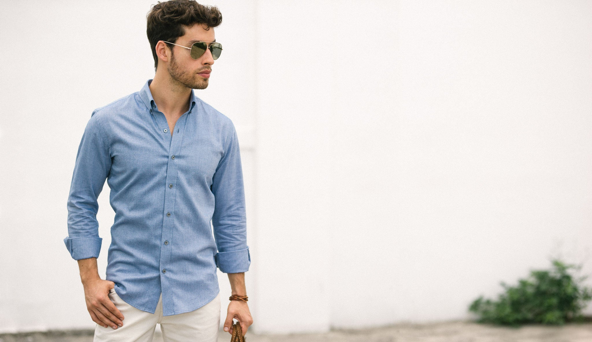 Blue Oxford Casual Shirt