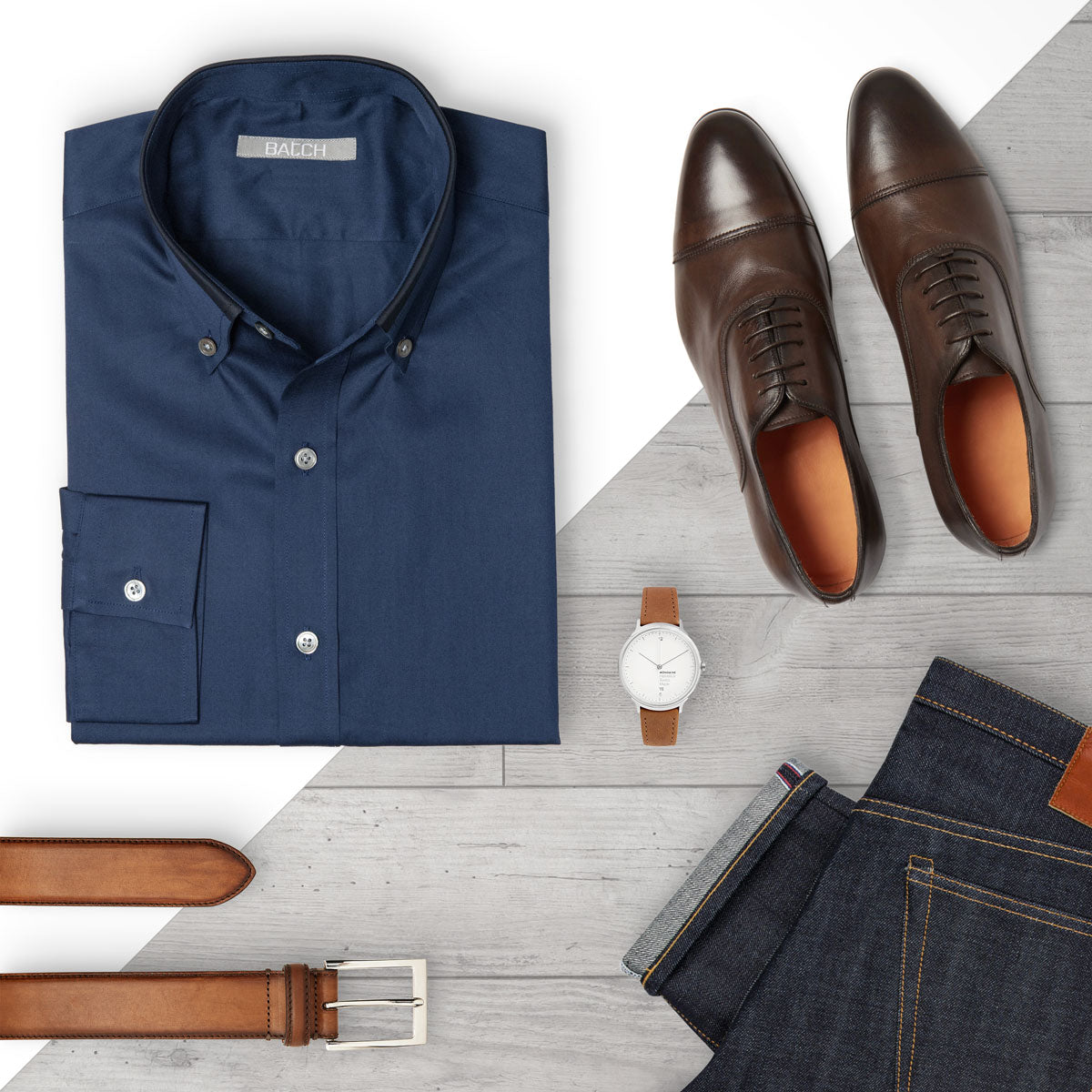 Business Casual Outfit with Navy Dress Shirt