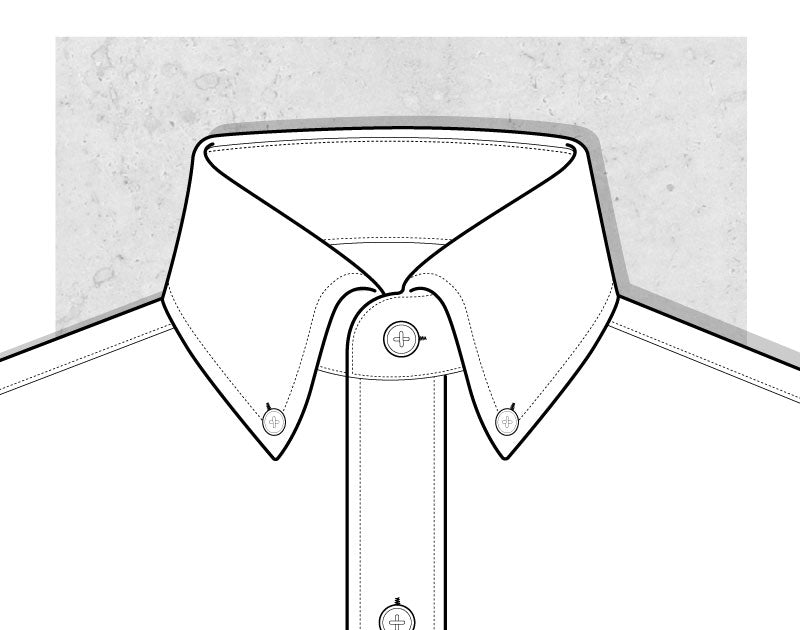 Button Down Collar Illustration