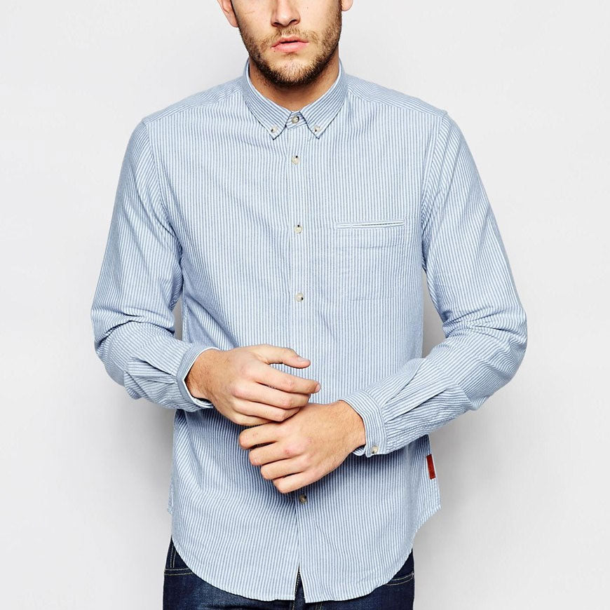 Men's Button Down Collar Fully Buttoned Outfit