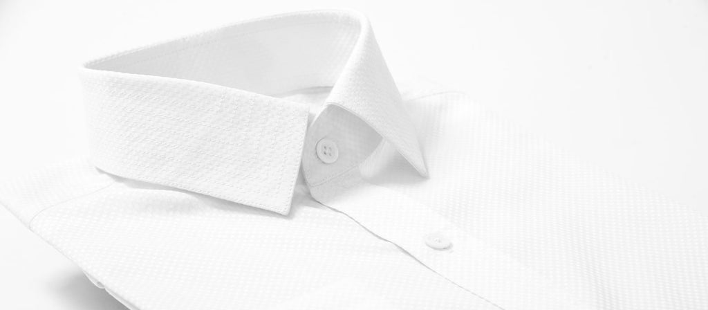 Classic White Shirt Spread Collar