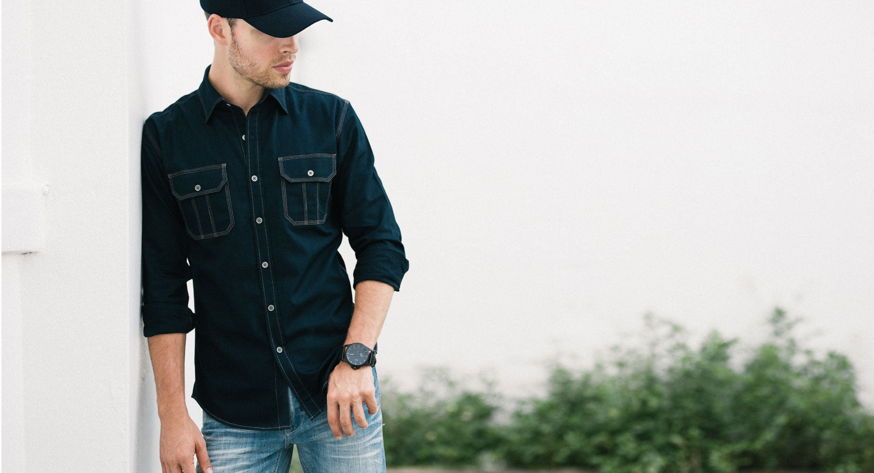 Constructor Men's Utility Shirt in navy twill