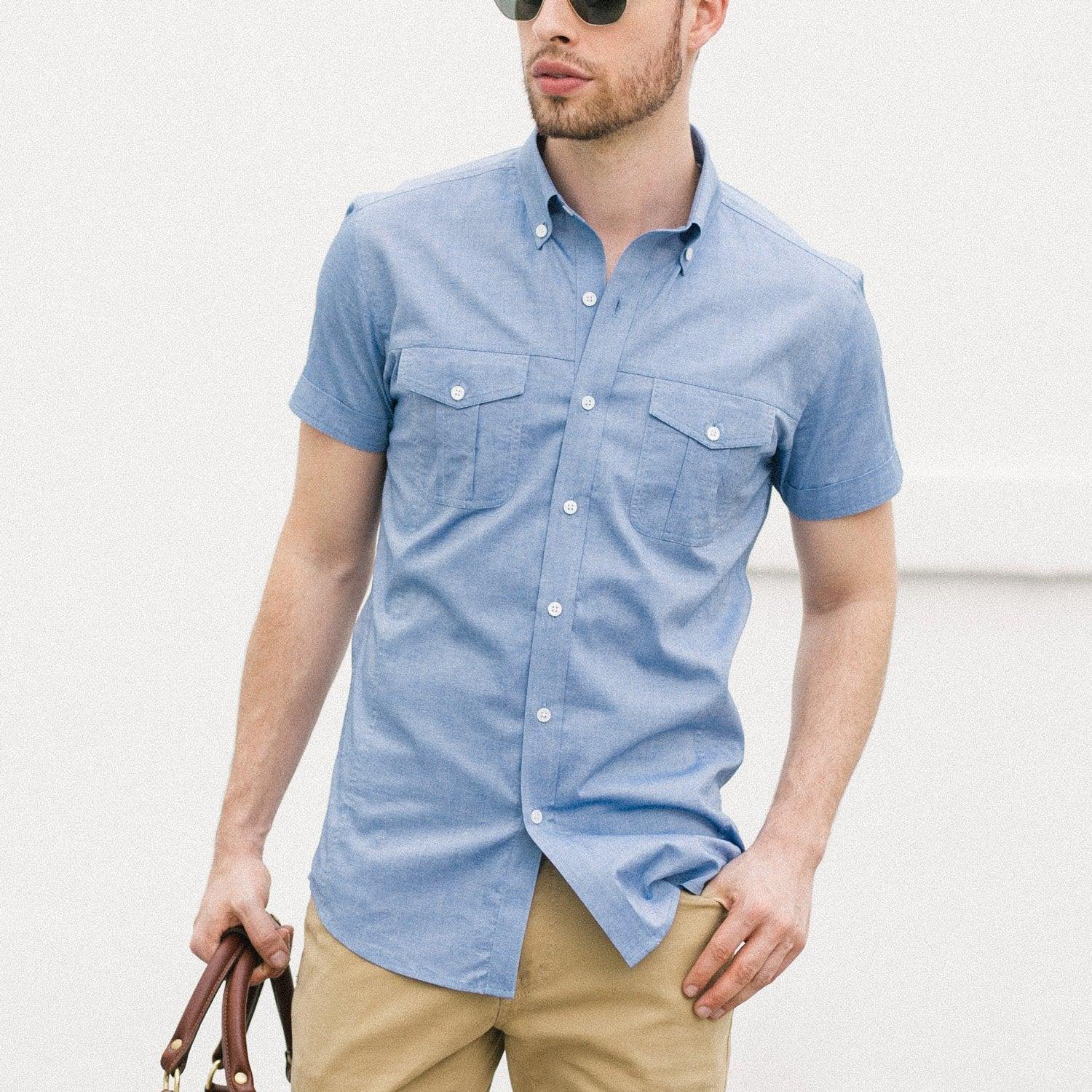 Men's Short Sleeve Casual Shirt Correct Fit Versus Boxy Fit