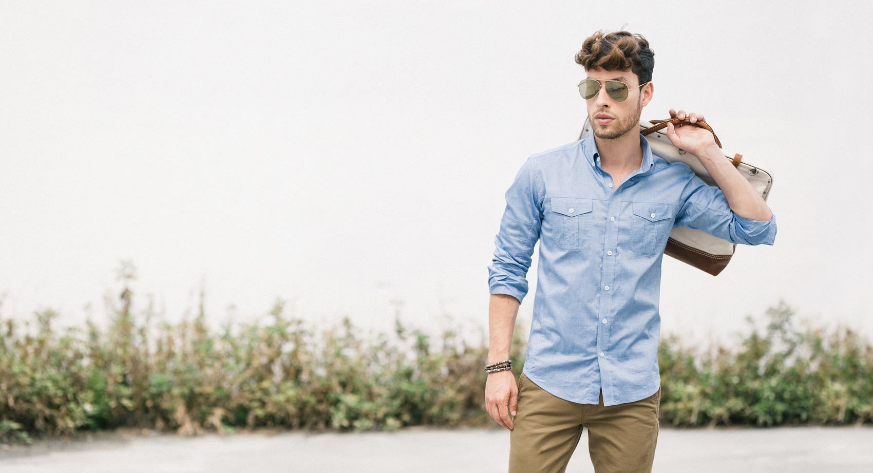 Classic Blue Oxford Utility Shirt