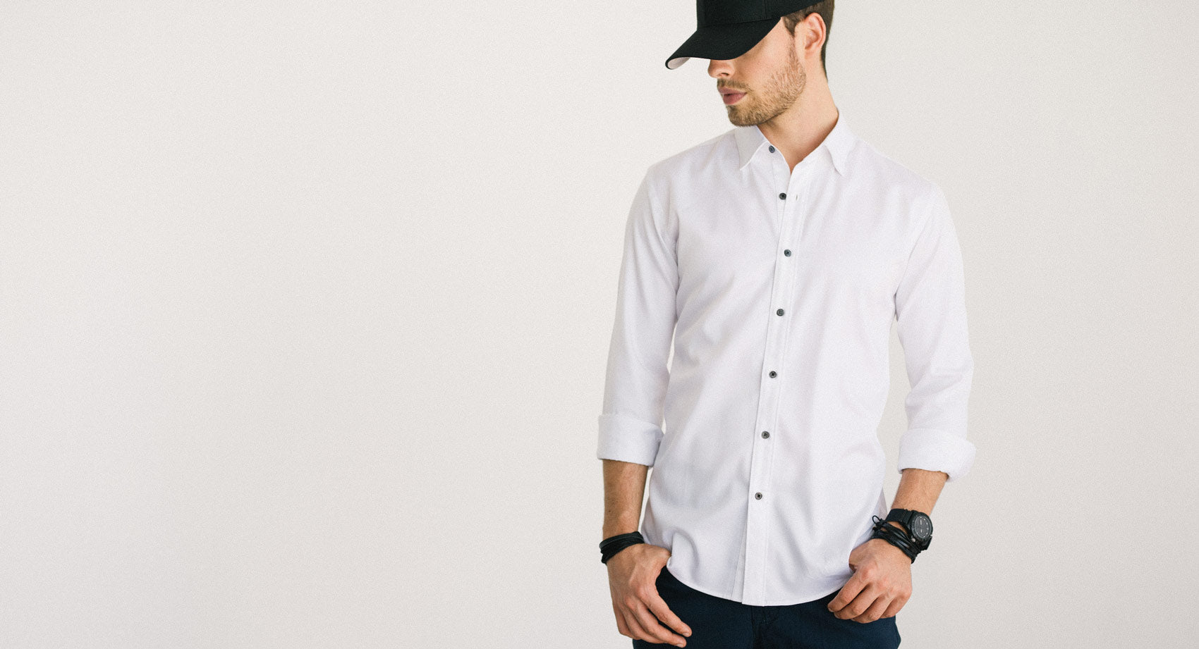 Navy Dot Button Down Shirt