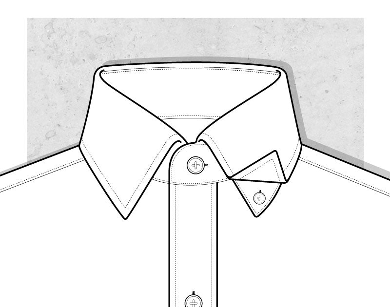 Hidden Button Collar Illustration
