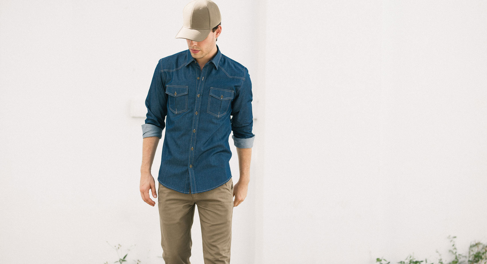 Green Chambray Men's Utility Shirt