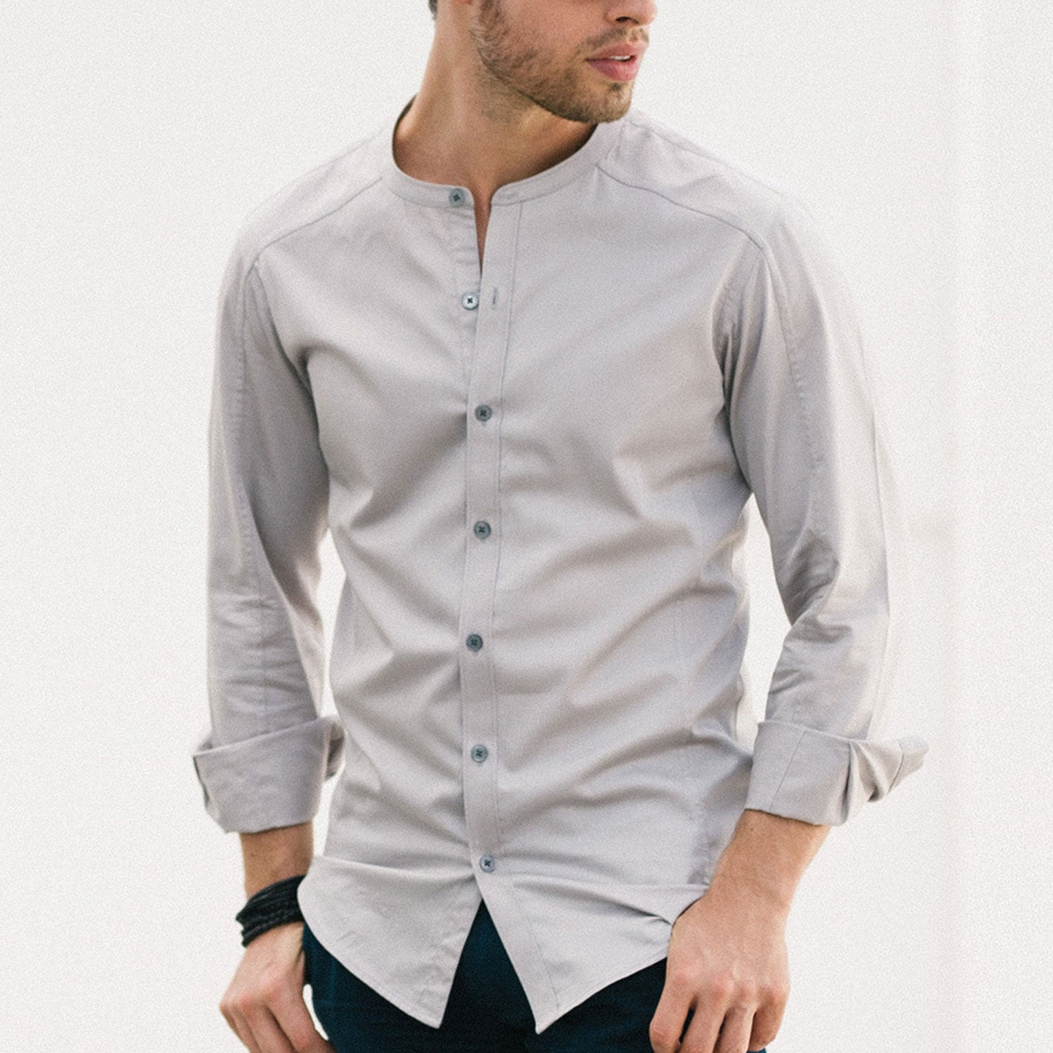 Collarless Shirt Image