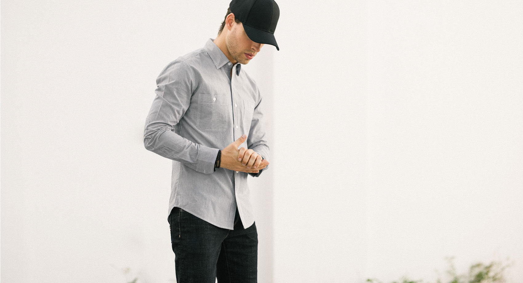 Flint Grey Collarless Shirt
