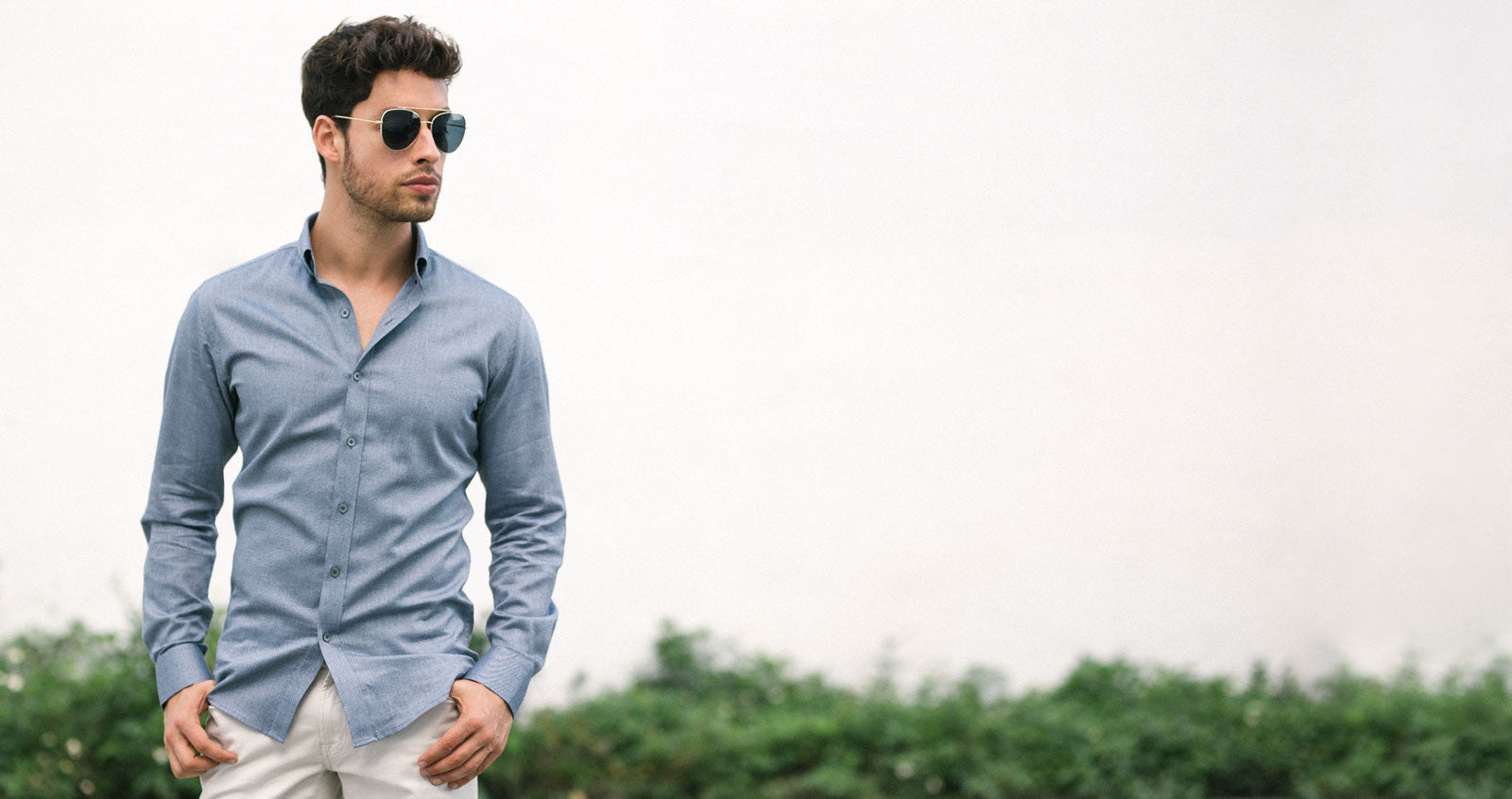Navy Pinpoint Oxford Casual Shirt