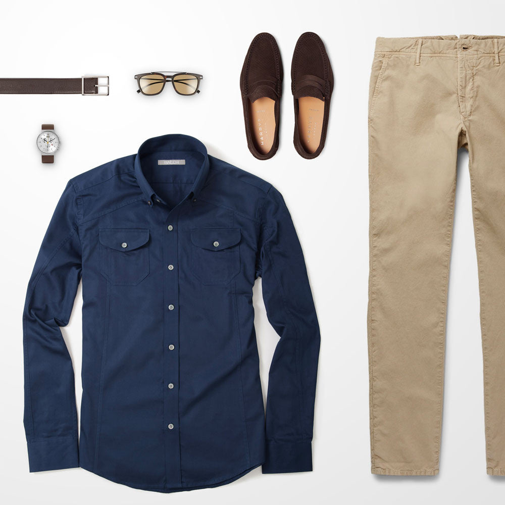 Shirt with color what pants blue Office Fashion