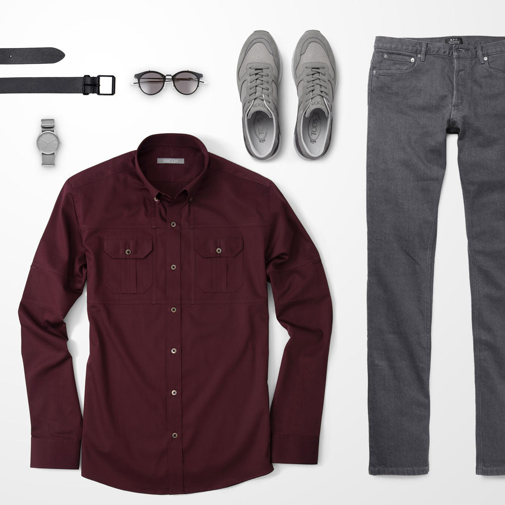 Dark Red Top Outfit >> Men's Outfit Guide: The fundamentals of great casual outfits | Batch