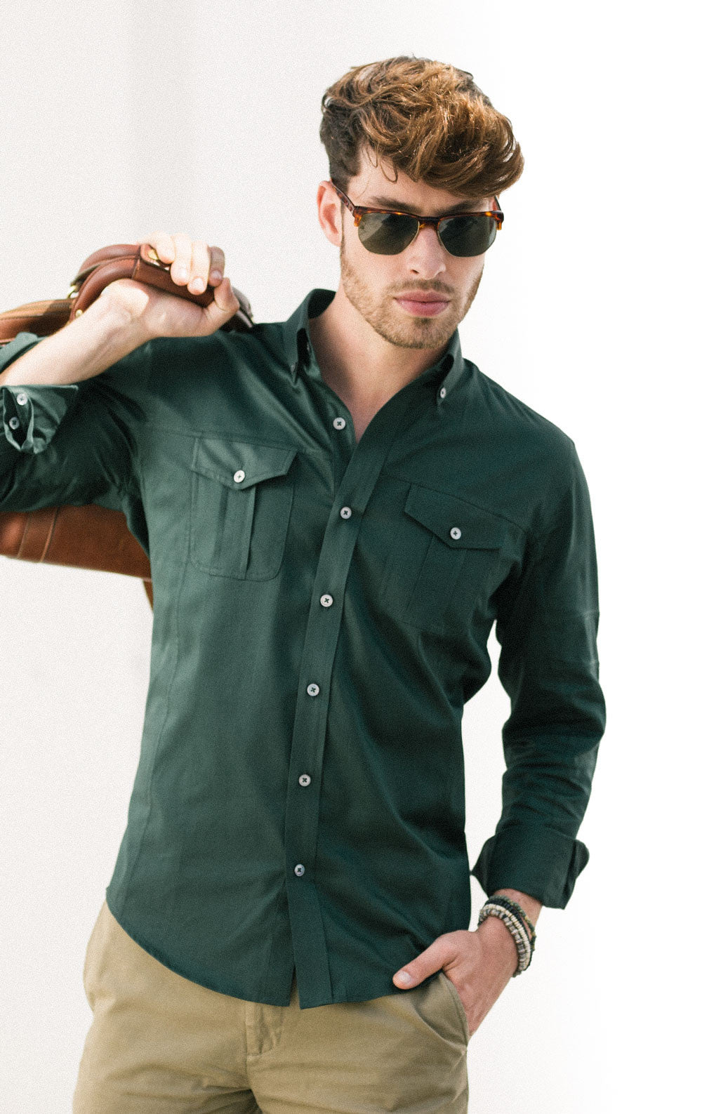 perfect green shirt outfit for men people