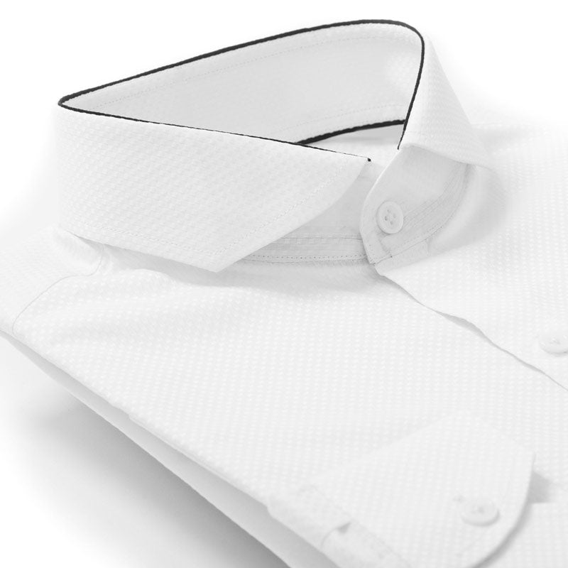 Royal Edge White Shirt Collar Detail