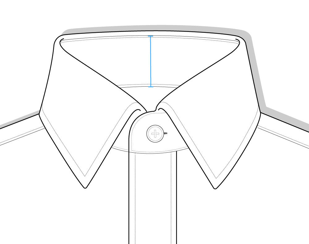 Collar Band Height Diagram