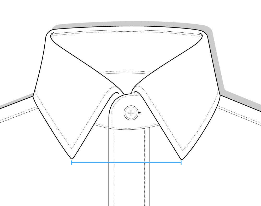 Collar Spread Shirt Diagram