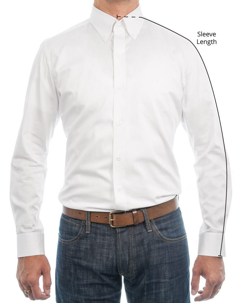 Sleeve Length Dress Shirt Measurements