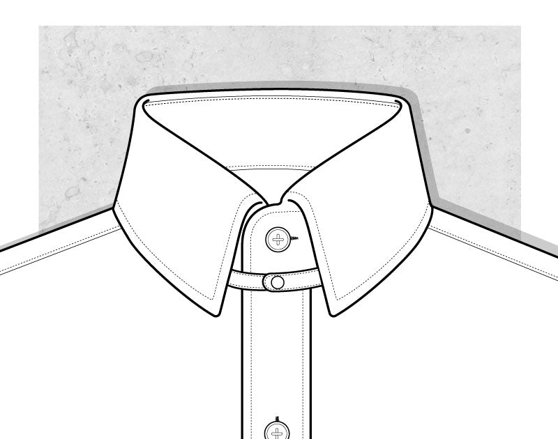 Snap Tab Collar Illustration