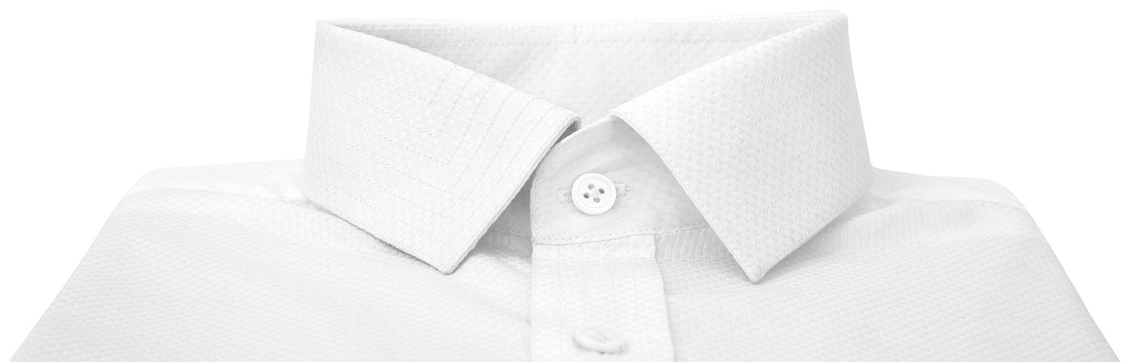 White Apex Dress Shirt Collar Detail