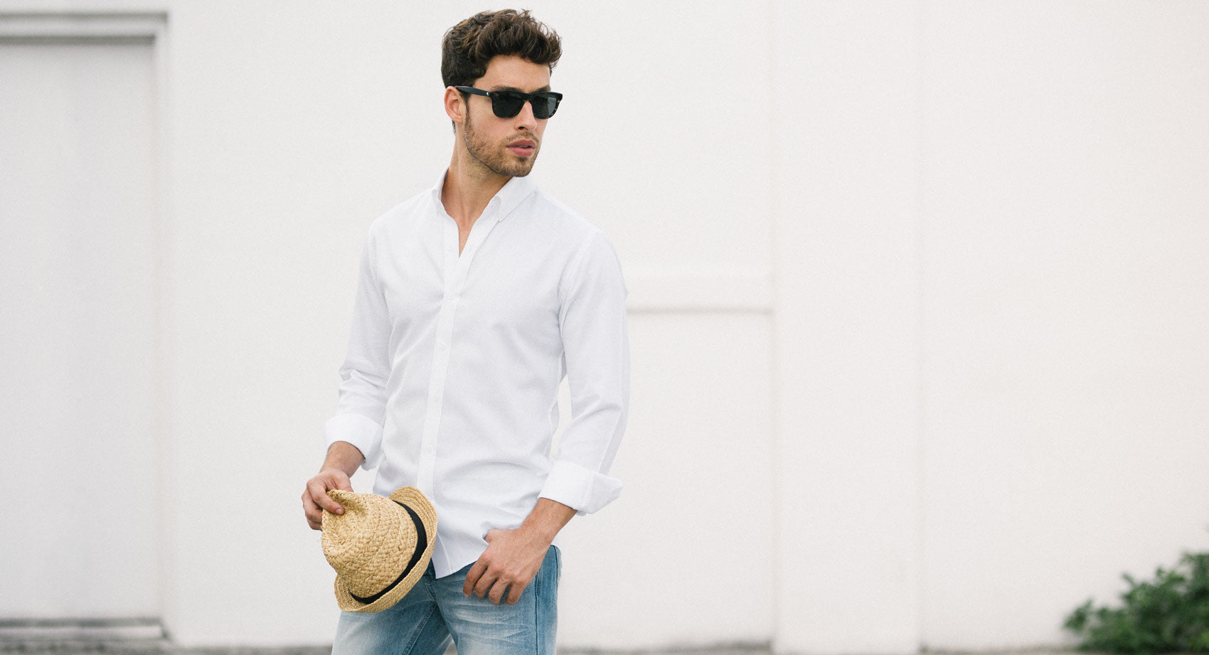 White Oxford Button Down and Jeans