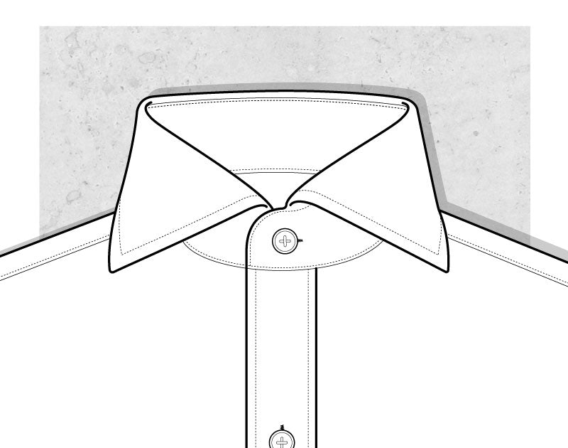 Wide Spread Collar Illustration