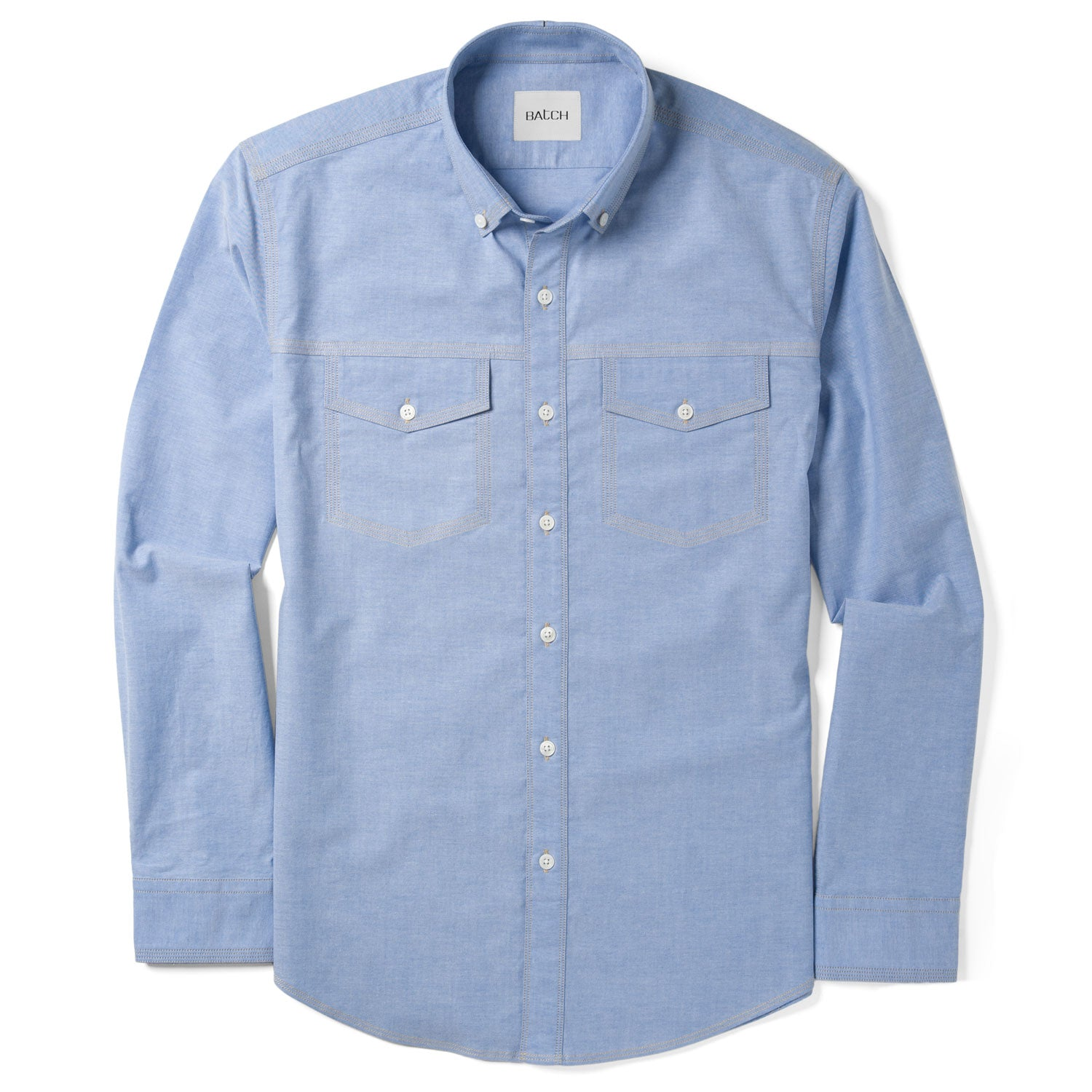 Author Casual Shirt Two Pockets – Clean Blue Stretch Oxford