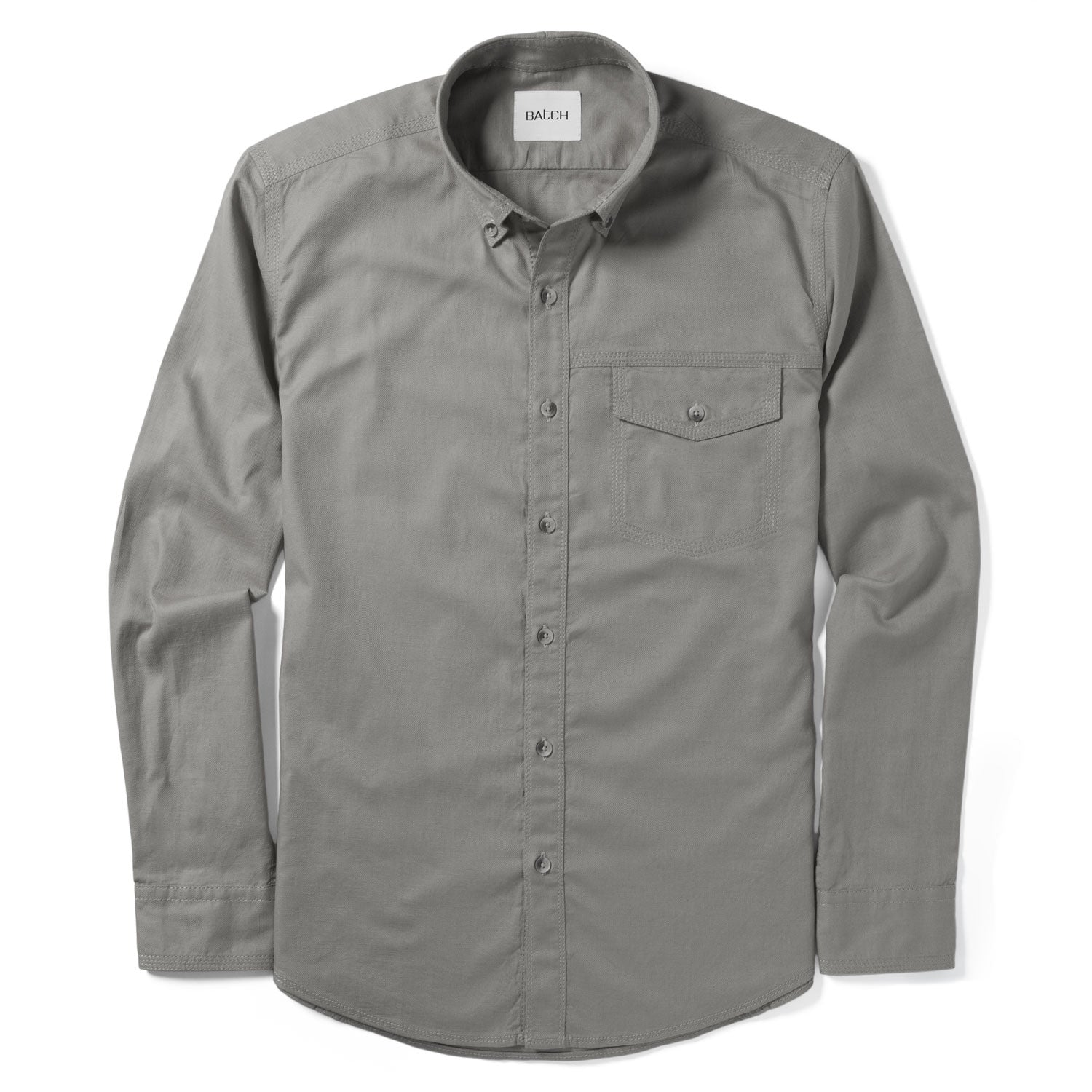 Author Casual Shirt – Granite Gray Stretch Cotton