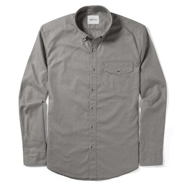 Author Casual Shirt – Granite Gray Stretch