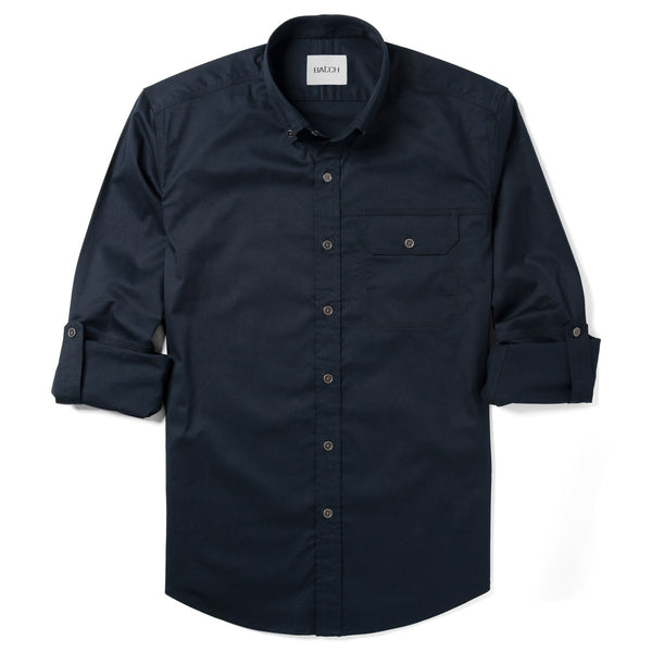 Builder One Pocket Casual Shirt – Dark Navy Stretch Twill