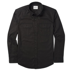 Constructor Two Pocket Men's Utility Shirt In Jet Black Cotton Twill