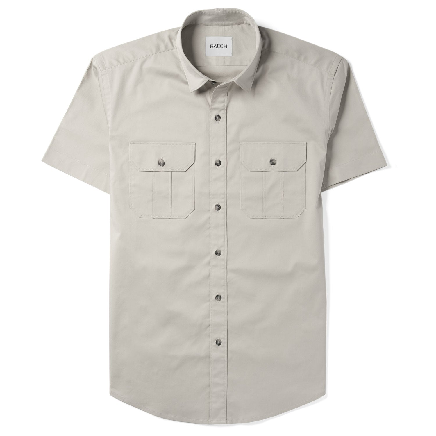 Constructor Short Sleeve Utility Shirt –  Cement Gray Cotton Stretch Twill