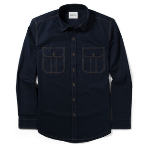 Constructor Two Pocket Men's Utility Shirt In Dark Navy Cotton Twill