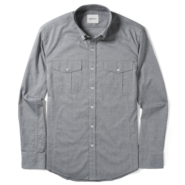 Editor Utility Shirt – Steel Gray Oxford