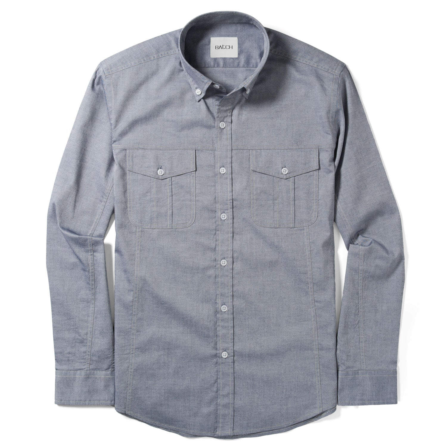 Editor Shirt – Light Navy Oxford