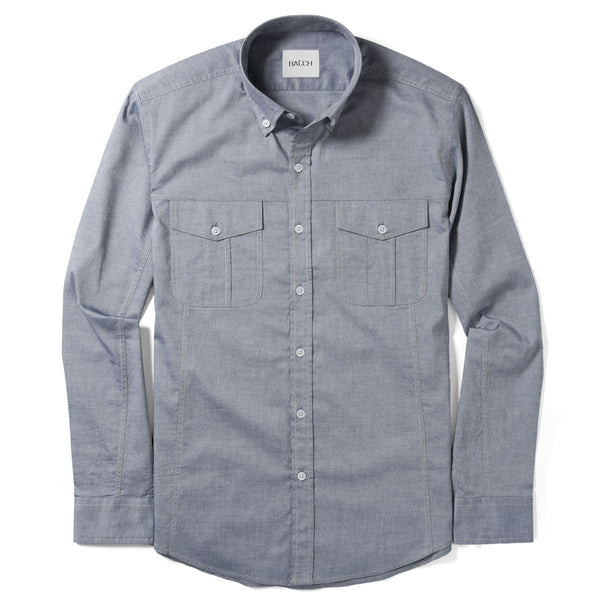 Editor Utility Shirt – Light Navy Oxford