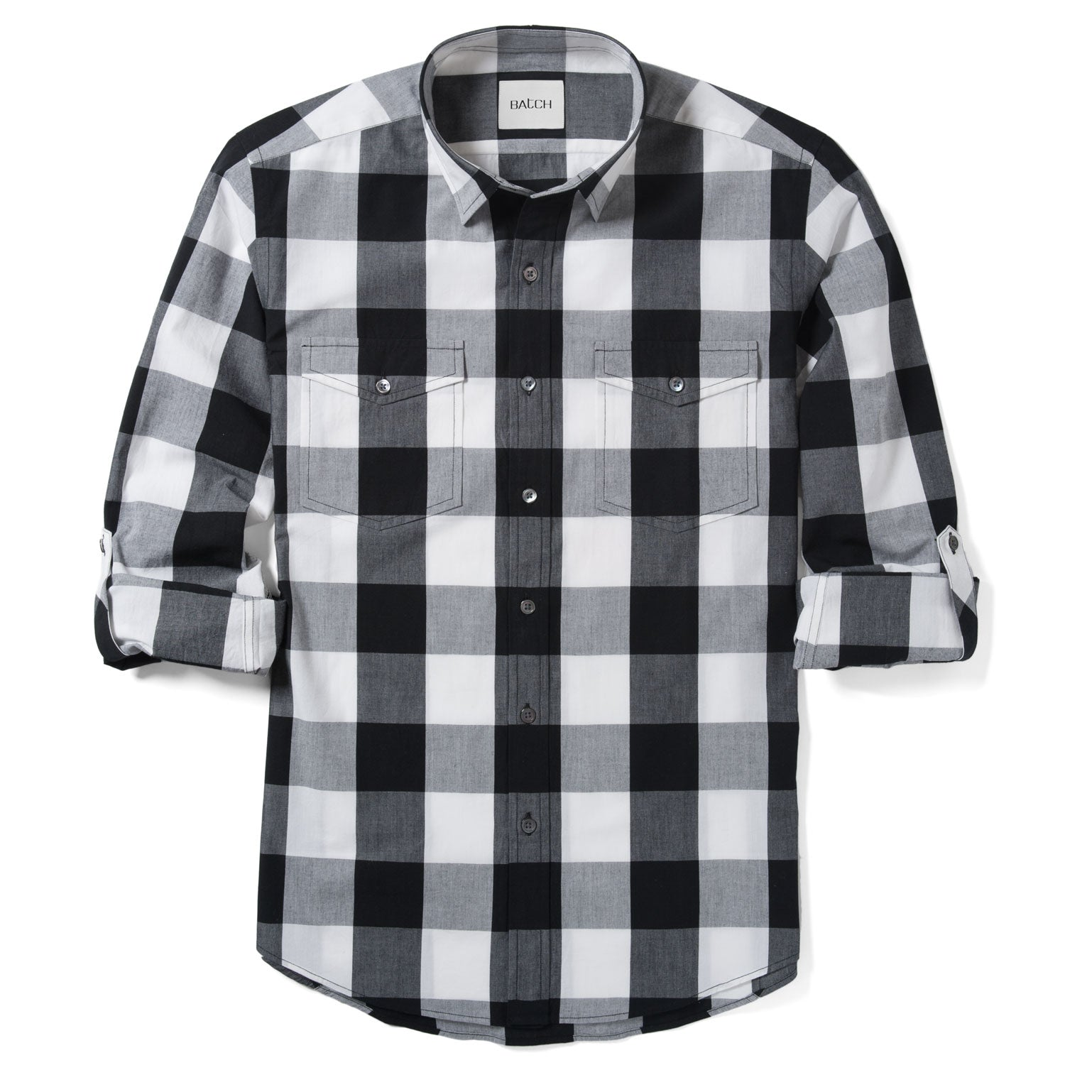 Engineer Utility Shirt – Black Crisp Check