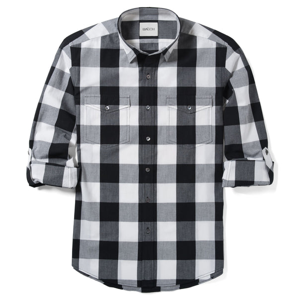 Engineer Work Shirt – Black Crisp Check