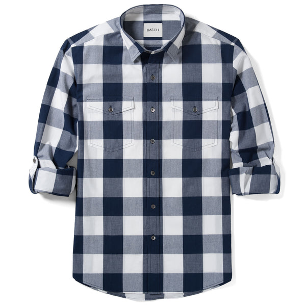 Engineer Work Shirt – Navy Crisp Check
