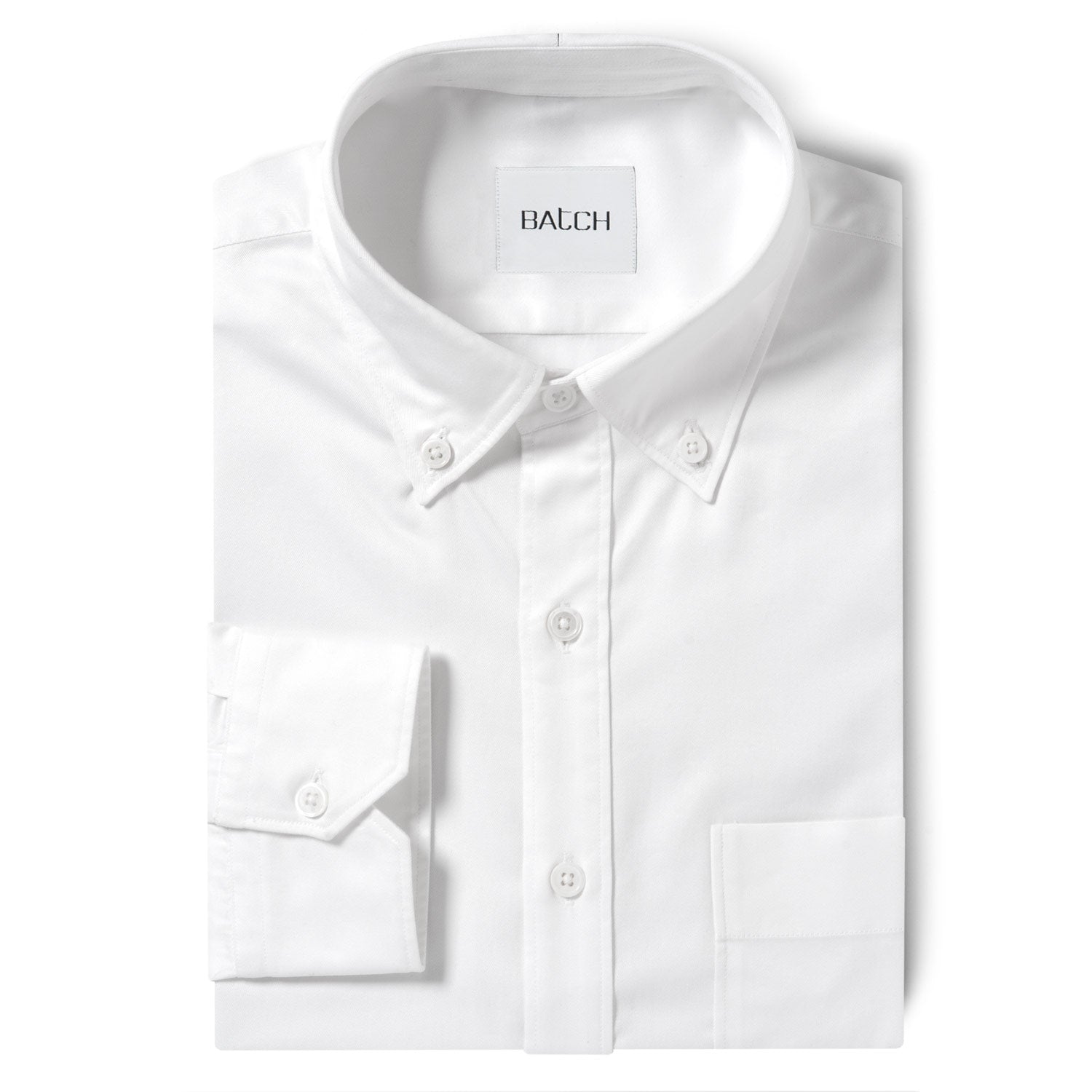 Essential BDC Shirt One Pocket - Pure White Wrinkle Defiant Twill