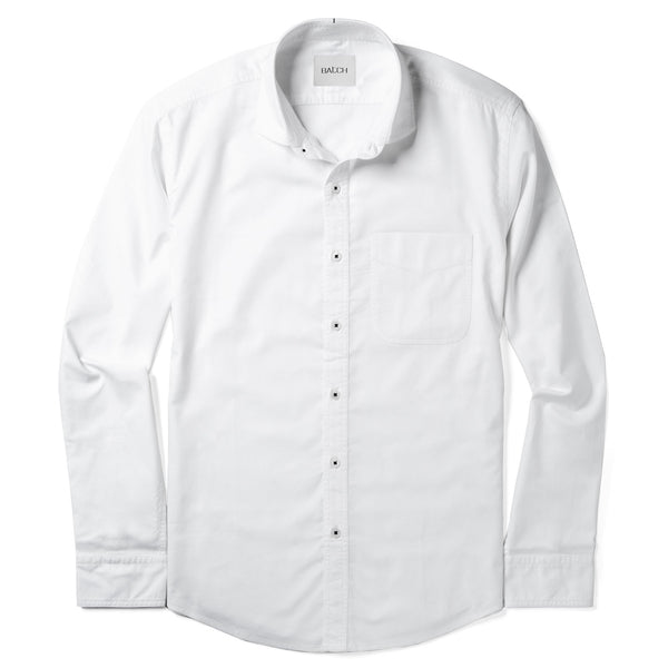 Essential Shirt Cutaway BSB - Pure White Cotton Oxford