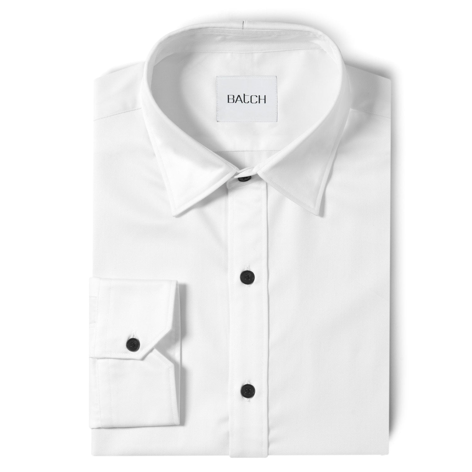 Essential Shirt - Pure White Wrinkle Defiant Twill BB