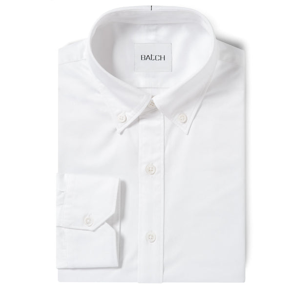 Essential BDC Shirt No Pocket - Pure White Wrinkle Defiant Twill