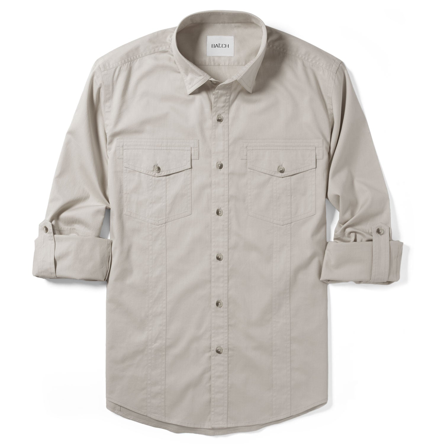 Explorer Utility Shirt – Desert Stone Cotton Twill
