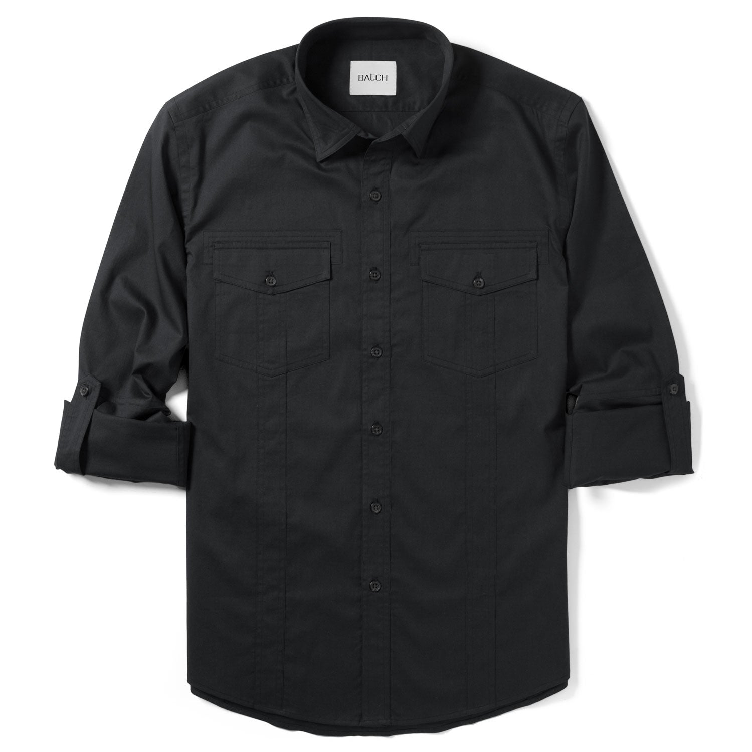 Explorer Utility Shirt – Jet Black Cotton Twill