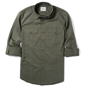 Explorer Utility Shirt – Fatigue Green Cotton Twill