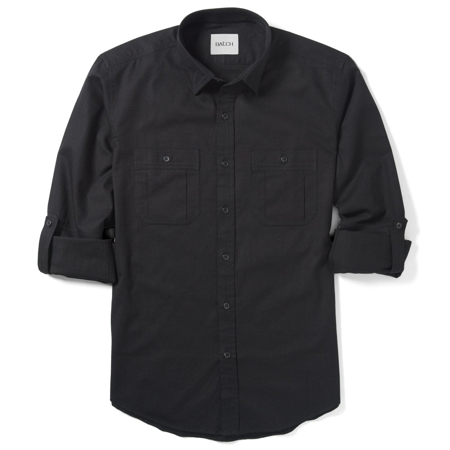Fixer Utility Shirt – Jet Black Slub Twill